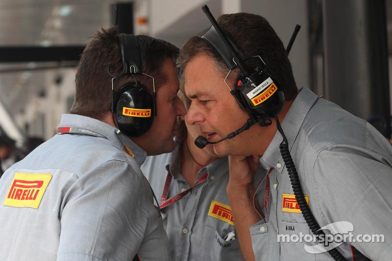 Paul Hembery, Pirelli Motorsport Director, and Mario Isola, Pirelli Racing Manager