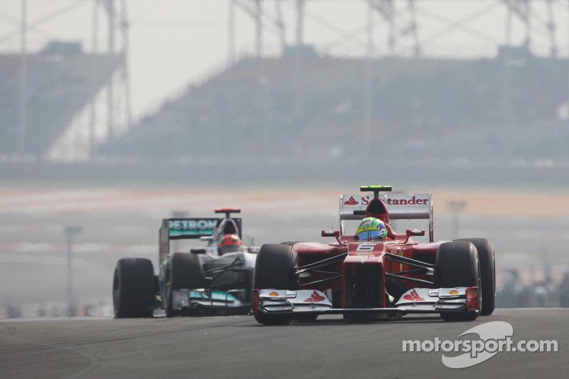Felipe Massa, Ferrari voor Michael Schumacher, Mercedes AMG F1