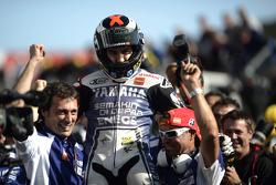 2012 champion Jorge Lorenzo, Yamaha Factory Racing celebrates