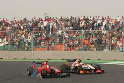 Timo Glock, Marussia F1 Team and Pedro de la Rosa, HRT Racing Team