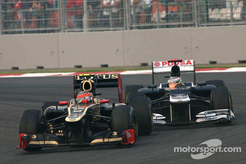 Romain Grosjean, Lotus F1 Team en Pastor Maldonado, Williams F1 Team
