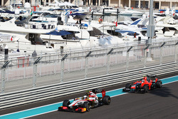 Ma Qing Hua, Hispania Racing F1 Team, Test Driver leads Max Chilton, Marussia F1 Team Reserve Driver