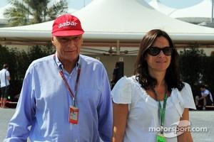 Niki Lauda, with his wife Birgit Wetzinger