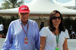 Niki Lauda, with his wife Birgit Lauda