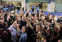 Renault team celebrate