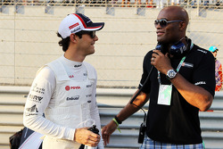 Bruno Senna, Williams on the grid with Anderson Silva, MMA Fighter
