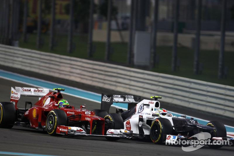 Felipe Massa, Scuderia Ferrari en Sergio Perez, Sauber F1 Team