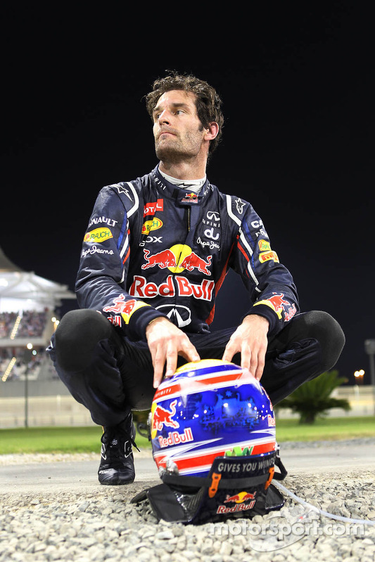 Mark Webber, Red Bull Racing crashed out of the race