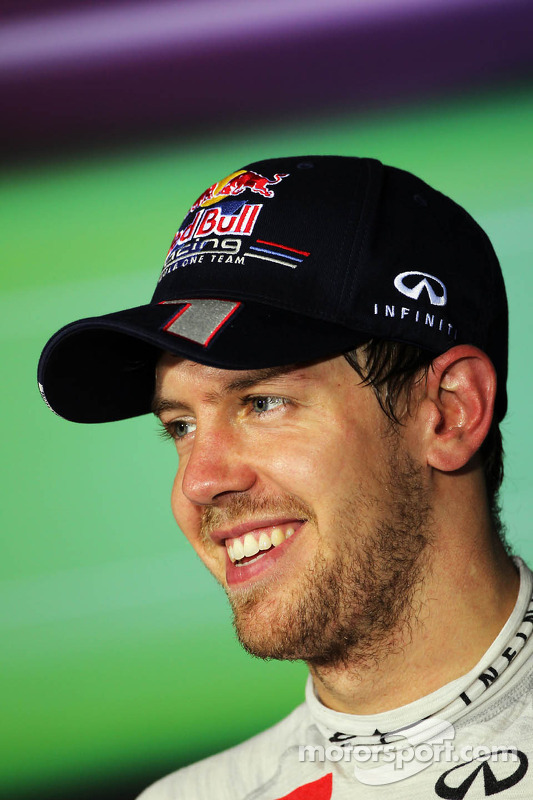 Third placed Sebastian Vettel, Red Bull Racing in the FIA Press Conference
