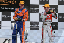 Podium: race winner Jamie Whincup, second place Will Davison