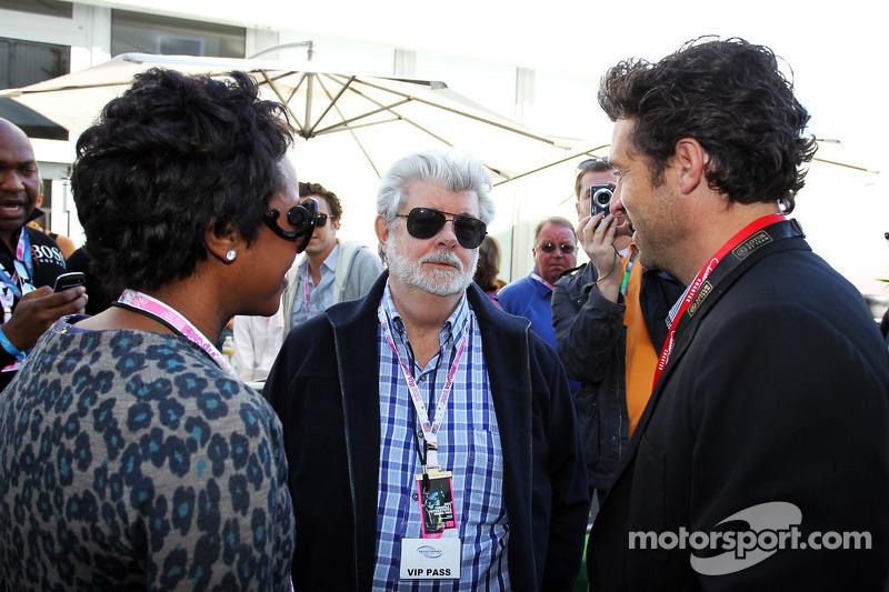 George Lucas, Star Wars Creator met partner Mellody Hobson, en Patrick Dempsey, Acteur