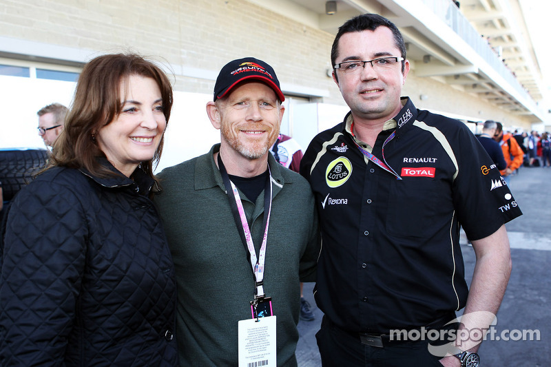 Ron Howard, Film Director, met Eric Boullier, Lotus F1 Team Principal