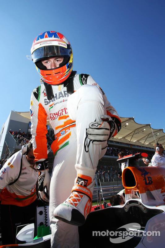Paul di Resta, Sahara Force India VJM05 on the grid
