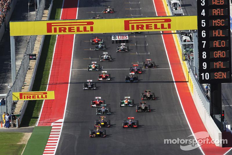 Diez pistas han sido escenario de la F1 para el GP de Estados Unidos: Austin, Indianápolis, Phoenix, Watkins Glen, Riverside y Sebring. Así como también en Las Vegas, Dallas, Detroit y Long Beach.