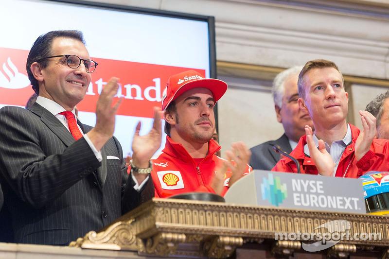 Fernando Alonso, Scuderia Ferrari bezoekt New York Stock Exchange