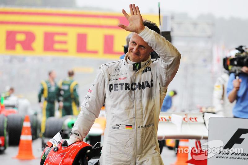 Михаэль Шумахер. ГП Бразилии, Воскресенье, после гонки.