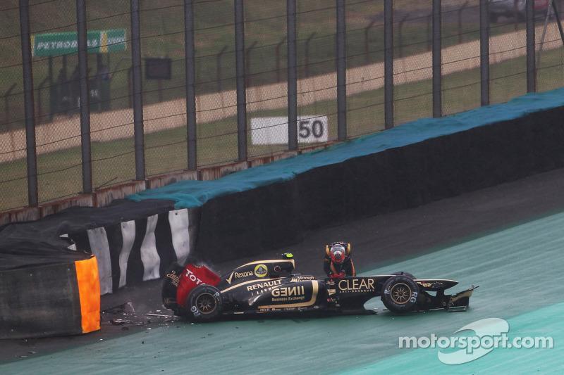 Romain Grosjean, Lotus F1 crash