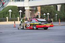 Clint Bowyer reports a problem with his car