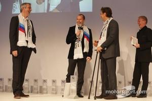 Thomas Biagi, Alex Zanardi and head of BMW Sport Jens Marquardt