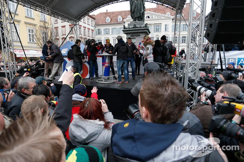 Себастьян Феттель. Себастьян Феттель отмечает победу в чемпионате мира, Особое мероприятие.