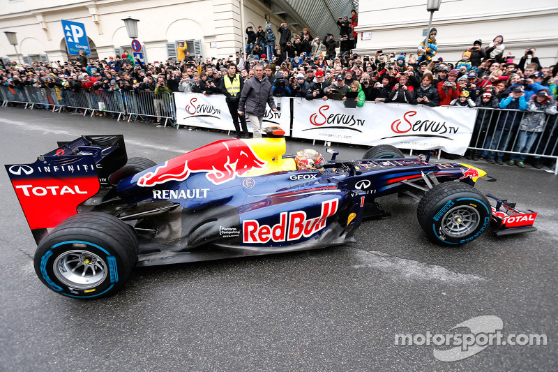 Sebastian Vettel, Red Bull Racing celebrates his world championship in Graz, Austria