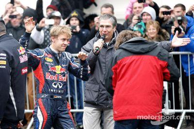 Sebastian Vettel celebrates world championship