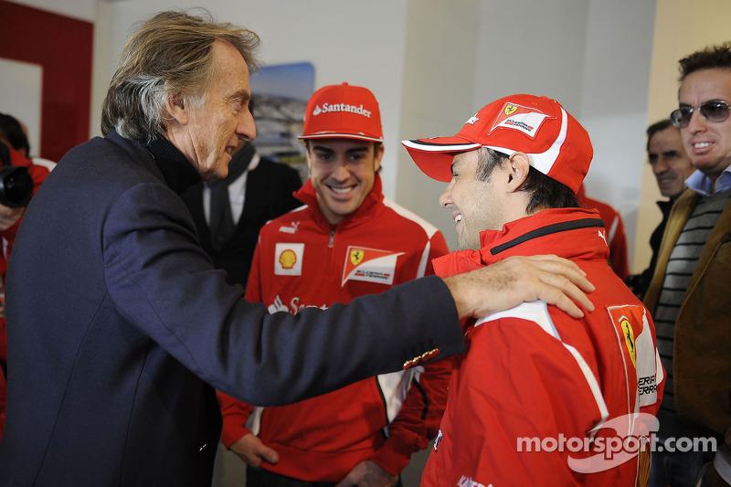 Felipe Massa, Fernando Alonso en Luca di Montezemolo