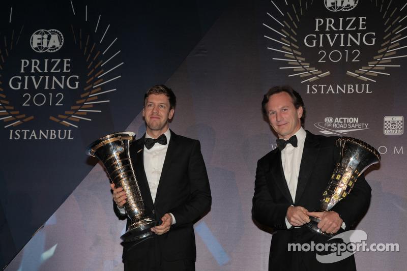 Себастьян Феттель. Церемония награждения FIA, Стамбул, Турция, Особое мероприятие.