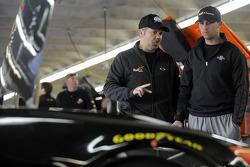 Crew chief Darian Grubb and Denny Hamlin, Joe Gibbs Racing Toyota