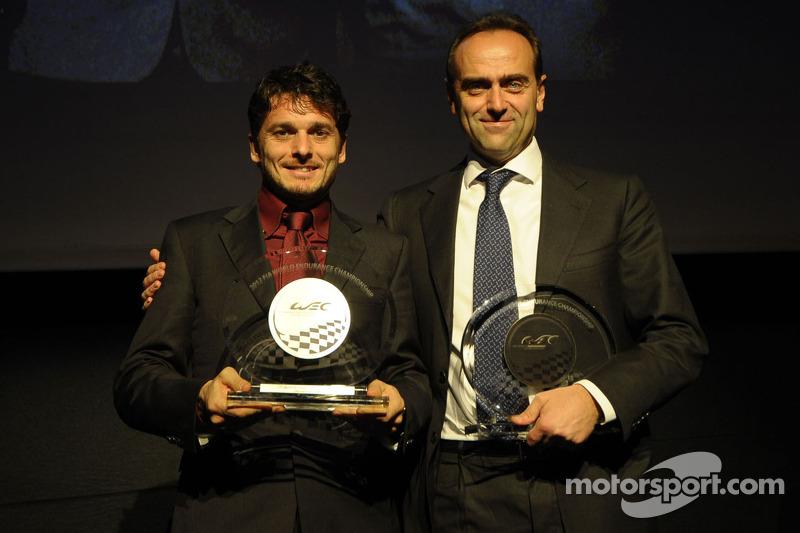 GTE-Pro kampioen, Giancarlo Fisichella met Amato Ferrari, AF Corse
