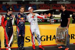 Jorge Lorenzo, Sebastian Vettel and Michael Schumacher