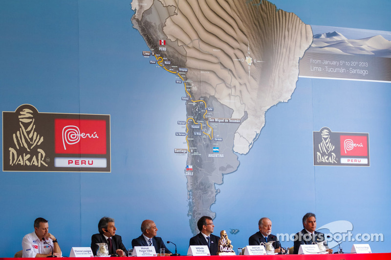 News conference in Lima, Peru