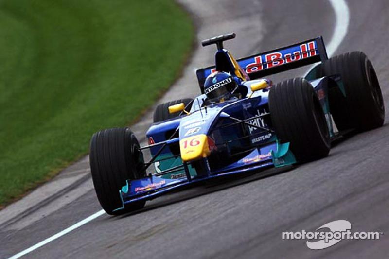 5.Pedro Diniz, 98 GPs (1995-2000). Seu melhor resultado é o 5° (Luxemburgo 1997 e Bélgica 1998).