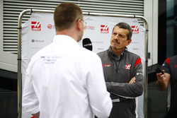 Guenther Steiner, Team Principal, Haas F1 Team, is interviewed