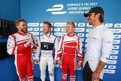 Nick Heidfeld, Mahindra Racing, Sam Bird, DS Virgin Racing, Felix Rosenqvist, Mahindra Racing, andJean-Eric Vergne, Techeetah