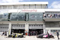 #6 HB Racing WDS Bau, Lamborghini Huracán GT3: Florian Spengler, Christopher Zanella und #7 HB Racing WDS Bau, Lamborghini Huracán GT3: Norbert Siedler, Marco Mapelli