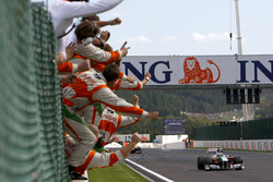 Giancarlo Fisichella, Force India VJM02 Mercedes viert zijn tweede plaats