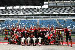 Race winner Chaz Davies, Ducati Team, third place Marco Melandri, Ducati Team