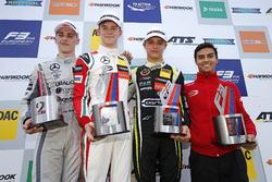 Подіум: переможець Каллум Ілотт (Prema, Dallara F317 Mercedes), другий призер Джейк Х'юз (Hitech, Dallara F317 Mercedes), третій призер Ландо Норріс (Carlin, Dallara F317 Volkswagen)
