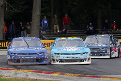 Daniel Hemric, Richard Childress Racing Chevrolet, Elliott Sadler, JR Motorsports Chevrolet and Brennan Poole, Chip Ganassi Racing Chevrolet