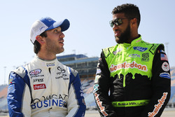 Daniel Suárez, Joe Gibbs Racing Toyota and Darrell Wallace Jr., Biagi-DenBeste Racing Ford