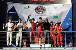 Podio LMGTE Pro: i vincitori James Calado, Alessandro Pier Guidi, AF Corse, al secondo posto Michael Christensen, Kevin Estre, Porsche Team, al terzo posto Davide Rigon, Sam Bird, AF Corse