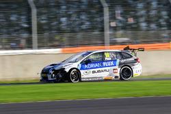 Crash involving, Jason Plato, Team BMR Subaru Levorg, Stephen Jelley, Team Parker Racing Ford Focus, Colin Turkington, West Surrey Racing BMW 125i M Sport and Ollie Jackson, AmD Tuning Audi S3