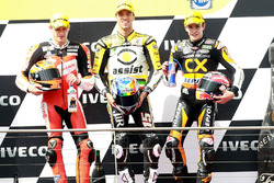 Podium: second place Stefan Bradl, Race winner Alex De Angelis, third place Marc Marquez