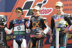 Podium: second place Pol Espargaro, Race winner Marc Marquez, third place Andrea Iannone
