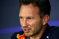 Christian Horner, team principal Red Bull Racing lors de la conférence de presse