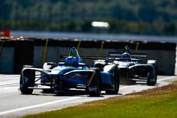 Nicolas Prost, Renault e.Dams leads Edoardo Mortara, Venturi Formula E Team
