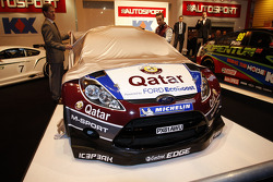 Malcolm Wilson and Mads Ostberg unveil the Qatar M-Sport Ford Fiesta