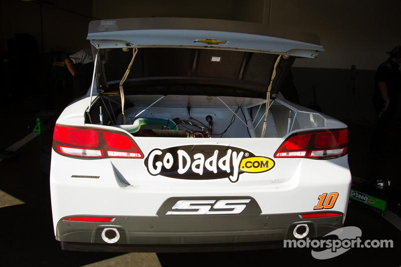 Car of Danica Patrick, Stewart Haas Racing Chevrolet, rear lid