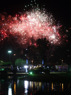 Fireworks at the bivouac